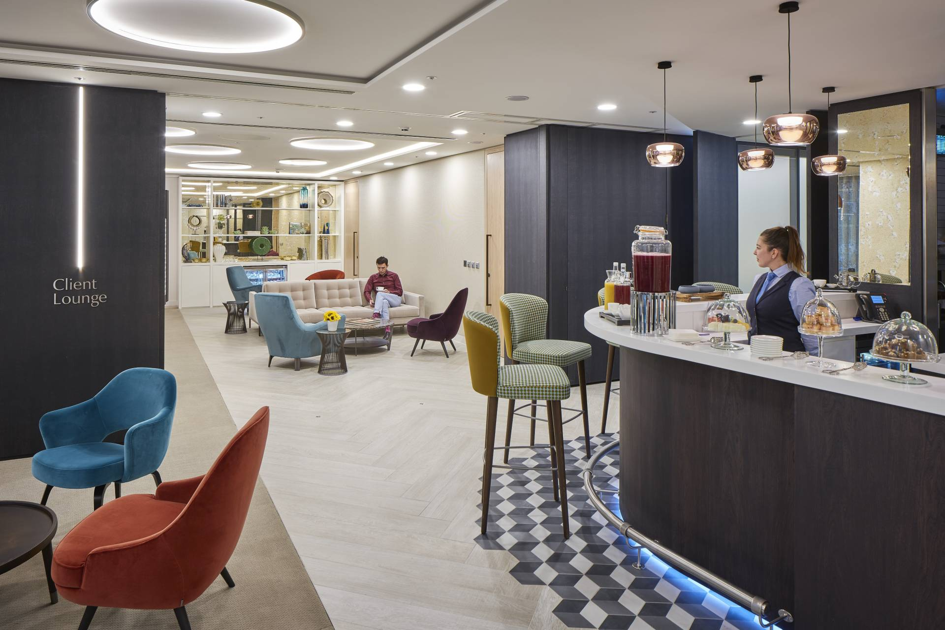 20 Old Bailey Client Lounge with cafe bar