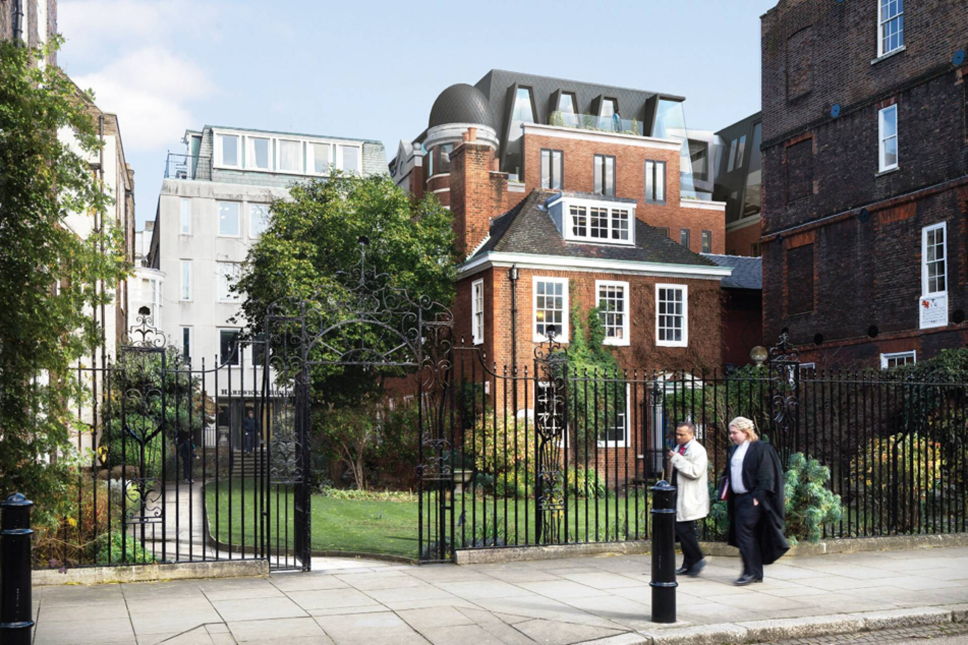 81 Chancery Lane behind gate