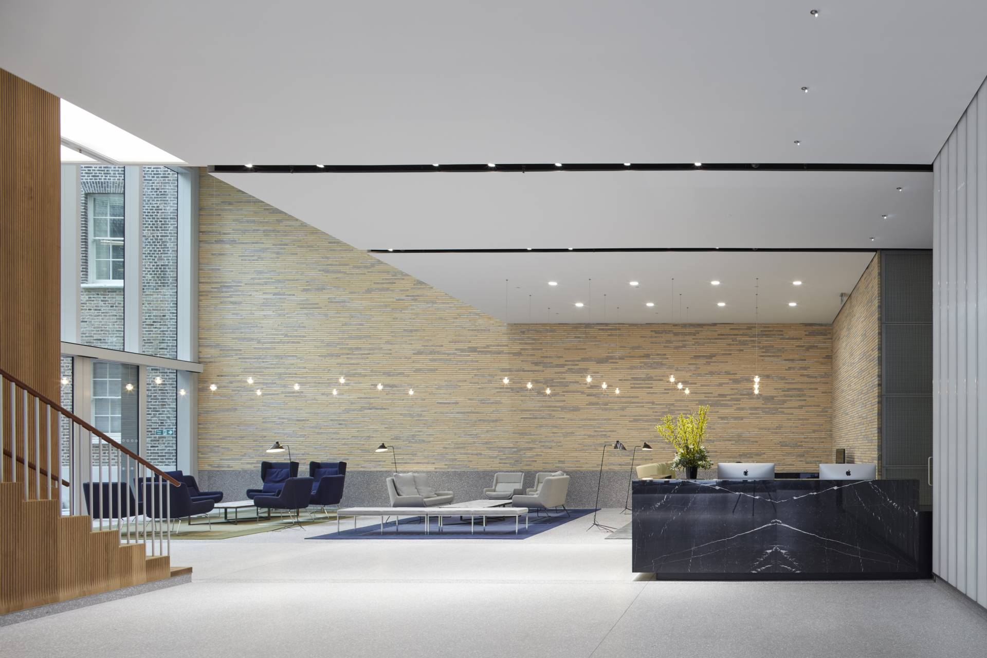 New Burlington Place foyer and reception desk