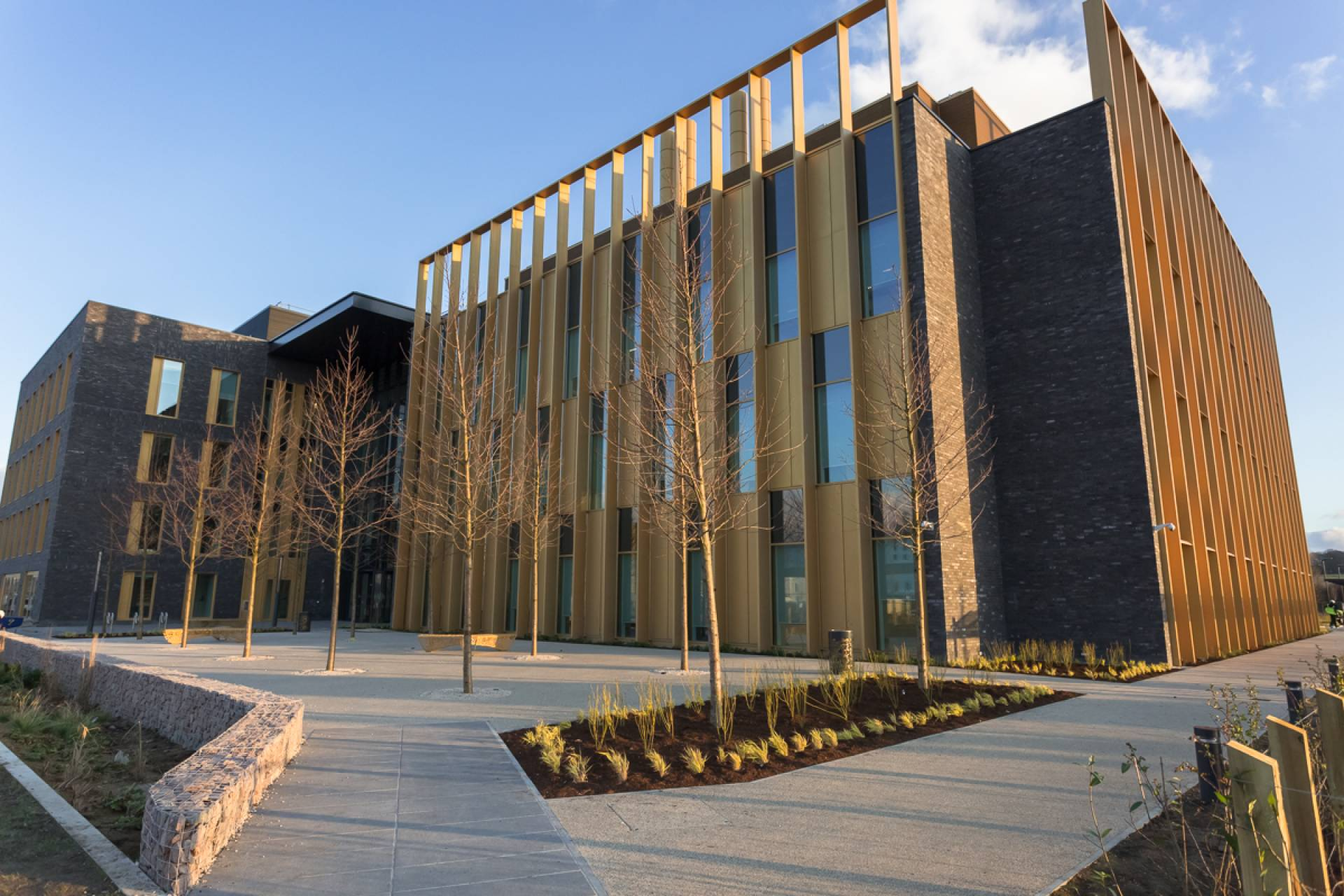 Cambridge biomedical campus facade
