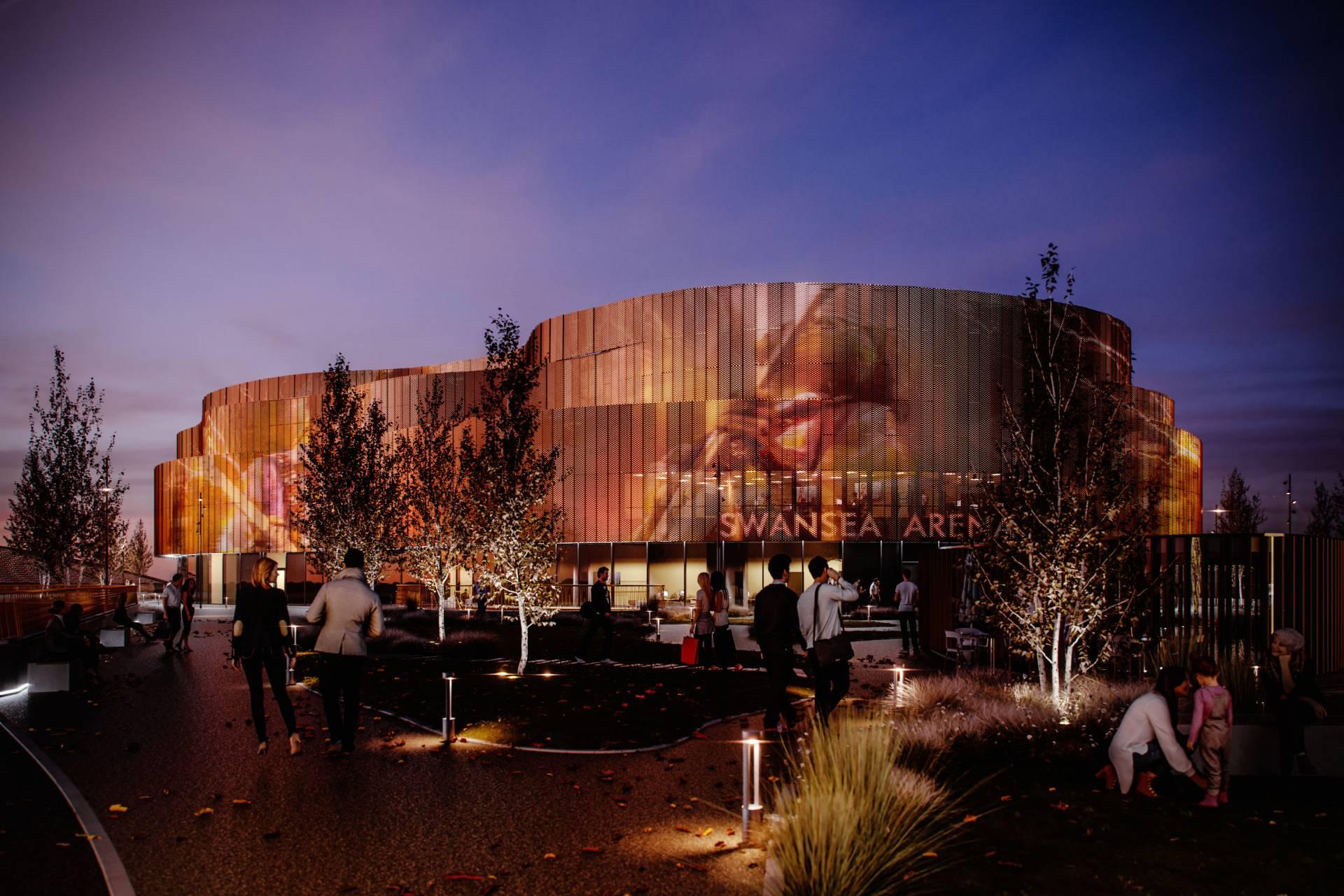Swansea Arena interactive facade